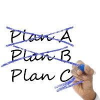 words Plan A crossed out, Plan B crossed out and Plan C underlined