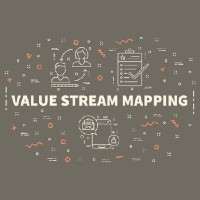 the words value stream mapping